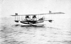 June 14, 1917: Royal Naval Air Service Curtiss H.12 Large America flying boat 8677 shoots down the German Zeppelin L.43.