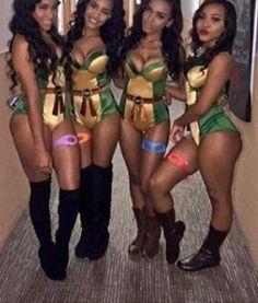 Women Squad Ninja Turtle Costume Idea
