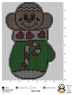 Plastic Canvas Coasters, Plastic Canvas Ornaments, Plastic Canvas Crafts, Plastic Canvas Patterns, Needlepoint Stockings, Needlepoint Patterns, Cross Stitch Patterns, Christmas Crafts Sewing, Gingerbread Men
