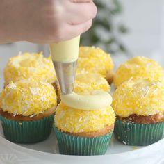 "🍉🍓💗Fun, Creative Recipes 💗🍧🍰 on Instagram: ""🍋NEW RECIPE🍋 Lemonade Cupcakes! 🧁🍋✨ These cupcakes are LEMON X 4! 🍋 lemon cake 🍋 lemon glaze 🍋 lemon buttercream 🍋 lemon curd  I am…"" Lemon Buttercream, Lemon Curd, Creative Food, Mini Cupcakes, New Recipes, Lemonade, Glaze, Desserts, Fun"