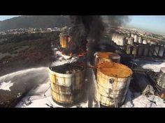 incêndio em Santos apoio com Drone ao Corpo de Bombeiros SP