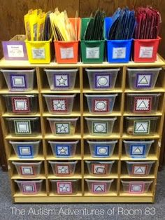 Workbasket Wednesday! Teacch task boxes for students with autism and special needs
