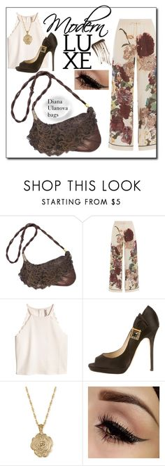 """Filigree *"" by nelly-melachrinos ❤ liked on Polyvore featuring Valentino, Jimmy Choo, 2028 and Illamasqua"