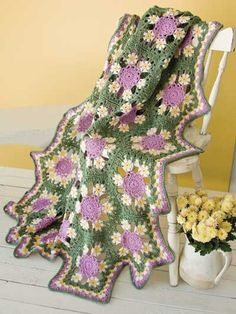 Perfect afghan for Spring