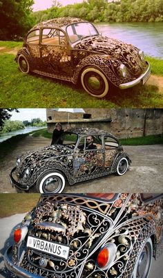 Oh, to get going on my Bug! Steampunk Volkswagen Beetle Car - Forget Ferrari and Lamborghini, this is the car you need (if you don't mind some cold breeze here and there) Steampunk Mode, Design Steampunk, Steampunk Accessoires, Style Steampunk, Victorian Steampunk, Steampunk Fashion, Victorian Era, Steampunk Clothing, Gothic Fashion