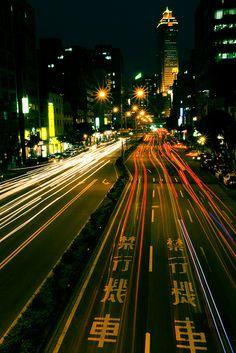 Taipei after dark.