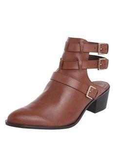 Ankle Boot Ramarim Fivelas Caramelo - Marca Ramarim