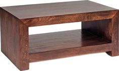Dakota Mango Contemporary Coffee Table Rustic Hardwood