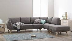 ... Focus On Furniture Enterprise Gray Sectional Sleeper Sofa With L Shaped Left Arm Loveseat White Bottle ...