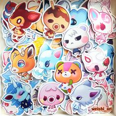 Adorable Stickers from the Animal Crossing Series :) - Merengue - Fauna - Zucker - Diana - Marshal - Fang - Skye - Beau - Stitches - Julian - Marina  (colors might differ slightly from computer screen) ________________________________________________________________________  All stickers:  ❤ are about 1.5 ❤ have vibrant colors ❤ have a shiny surface and are perfect for your phone, handhelds, laptops or notebooks and more ❤ recommend indoor use only ❤ do not expose them to water / wetness...