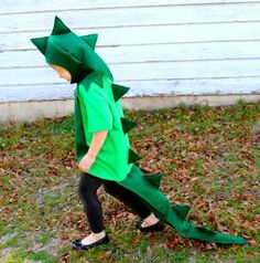Child or Adult Deluxe Green Dinosaur Costume por AlphabetCircus