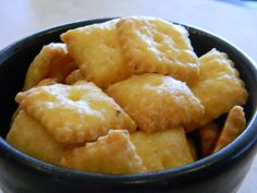Homemade Cheez-Its Recipe - will have to try this using GF flour. How I've missed Cheez-its!