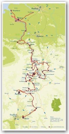 Germany Road Map | Γεωγραφία | Pinterest | Road routes, Austria and ...