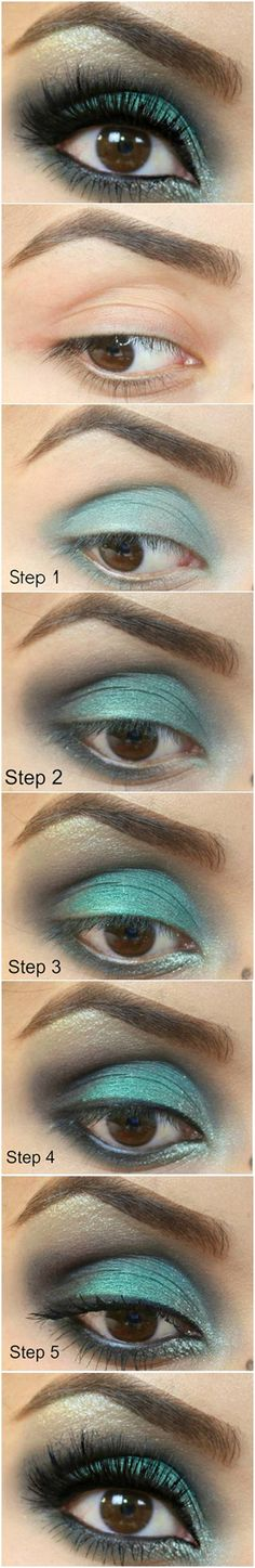 How To: Emerald Eye - great look on brown eyes.