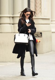 Kendall Jenner's most stylish moments are arguably when she's just doing her thing out and about. Want to wear leather trousers this season? Use Kendall as your inspiration. -Cosmopolitan.co.uk