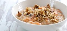 Healthy Carrot Cake Oatmeal