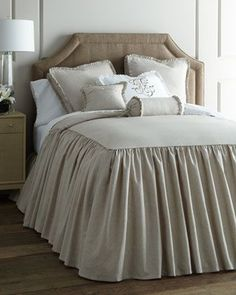 Shop luxury bedding on sale at Horchow. Find amazing deals on clearance luxury bedding, furniture, lamps, fine furnishings, and more. Where To Buy Bedding, Cool Beds, Bed Linens Luxury, Home Decor, Bed, Cozy Master Bedroom, Bed Styling, Luxury Bedding, Bedding Sets