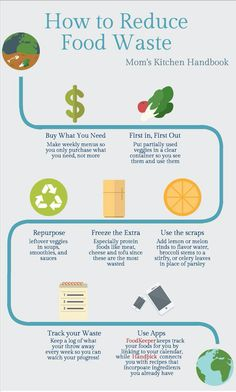 How to Reduce Food Waste and  your carbon foot print in the process. Mom's Kitchen Handbook