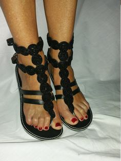 African Colours Beaded Leather Sandals by Africanheritagegifts