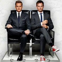 Gabriel Macht & Patrick J. Harvey Specter Suits, Suits Harvey, Suits Tv Series, Suits Tv Shows, Sarah Rafferty, Gabriel Macht, Business Professional Women, Terno Slim, Suits Quotes