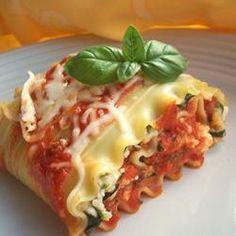 Lasagna Roll Ups Allrecipes.com