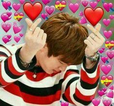Memes Kpop/ K-pop Memes Bts Meme Faces, Funny Faces, Jimin, Bts Jin, Meme Pictures, Reaction Pictures, Bts Emoji, Bts Face, Heart Meme