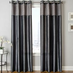 Guild Faux-Silk Grommet-Top Curtain Panel - JCPenney