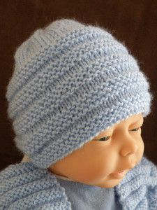 Baby Knitting Patterns I love the border on this blanket! Baby Hat Knitting Patterns Free, Baby Hats Knitting, Knitting For Kids, Crochet For Kids, Loom Knitting, Baby Patterns, Free Knitting, Crochet Baby, Knitted Hats