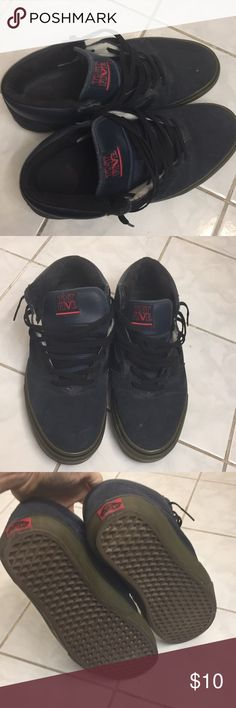 Suede navy blue Vans Super clean- barely worn Vans Shoes Sneakers