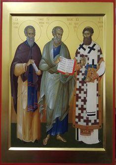 Orthodox Christianity, Orthodox Icons, Ikon, Fresco, Medieval, Saints, Baseball Cards, Pictures, Painting