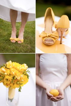 yellow shoes under your dress... hmmm?  these are super cute!