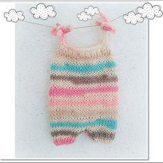 Newborn baby romper / knit baby overall / by ZucchiniIslandKnits