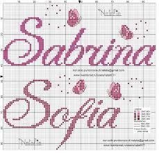 Risultati immagini per lettere a punto croce corsivo