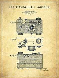Photographic Camera Patent Drawing From 1938 Drawing by Aged Pixel