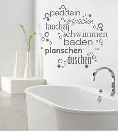Tauchen, Wandsticker, Wandtattoos, Schwimmen, Duschen, Baden, Badezimmer