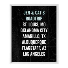 Our Travels Canvas Print, White, Single piece, 16 x 20 inches, Black