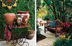 Always wanted a back yard that's an additional room.  Love the feel here.    Home Goods