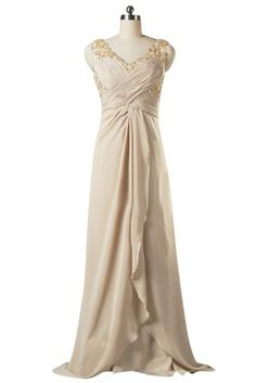 Sunvary V Neck Appliqued Chiffon Mother of Bride Dresses Prom Gown - US Size 2- Champagne Sunvary http://www.amazon.com/dp/B00J5BCY18/ref=cm_sw_r_pi_dp_qdjmub01QSQD3