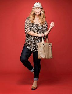 Cute. Love the leopard tunic/shirt.