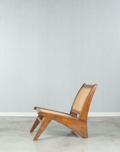 Pierre Jeanneret; Teak and Cane 'Kangourou' Chair Variant, c1960.