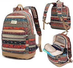 Kinmac New Bohemian Waterproof Laptop Backpack with Massage Cushion Straps and USB Charging Port for Laptop Up to Inch Men Women Student Travel Outdoor Backpack Aztec Backpacks, Unique Backpacks, Outdoor Backpacks, Kids Backpacks, College Backpacks, Backpack Bags, Fashion Backpack, Travel Backpack, Fashion Bags