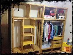 DIY Pallet Closet Organizer | 99 Pallets closet organizer