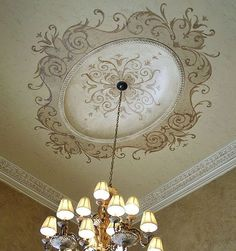 Ceiling Paint Design, Ceiling Painting, Ceiling Murals, Wall Painting Decor, Ceiling Lights, Hall Room Design, Gypsum Decoration, Ceiling Finishes, French Country Dining Room