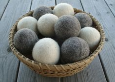 loving my loo-hoo wool dryer balls :: mom-owned business, non-toxic, made in the USA