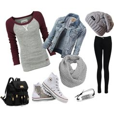 """School Outfit"" by daphny-b5 on Polyvore"
