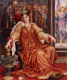 Evelyn De Morgan (English, 1855-1919). The Hour Glass, 1904.