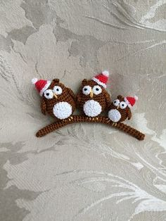 Owl crochet christmas ornament free pattern