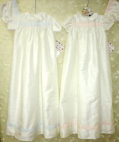 French ribbon silk dupioni christening gown & cap. #christening #malley&co