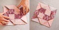 apoio de mesa de origami – DIY