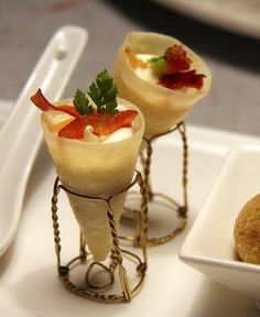 A creative way to dish out appetizers at your next party!